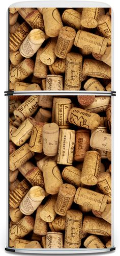 wine cork decals for the fridge from Kkudu magnets