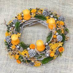 Hydrangea / Veľký prútený adventný veniec Floral Wreath, Wreaths, Fall, Home Decor, Autumn, Floral Crown, Decoration Home, Door Wreaths, Fall Season