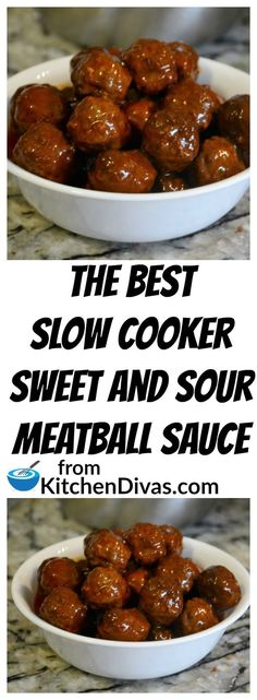 Slow Cooker Sweet and Sour Meatballs Ken and his buddies play poker once a month and these meatballs are always a huge hit. Sweet and Sour Meatballs are so easy to make. If we have time we make our Perfect Meatballs and if not we buy a large bag of frozen Best Slow Cooker, Crock Pot Slow Cooker, Crock Pot Cooking, Slow Cooker Recipes, Meat Recipes, Appetizer Recipes, Cooking Recipes, Healthy Recipes, Meatball Recipes