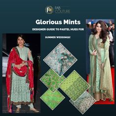Go for pastel hues this summer wedding! #designerguide #fabcouture #designerfabrics #pastelcolours #mint #summerfashion http://wp.me/p6qlgO-4J