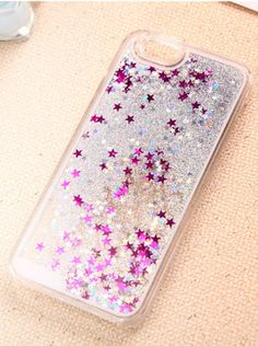 Amazon.com: Case for iPhone 5S,Turpro™ Hard Plastic Transparent Clear Creative Funny 3D Quicksand Liquid Flowing Sparkles Shinny Glitter Bling Case Cover with Water and Stars for iPhone 5 5S(Silver): Cell Phones & Accessories