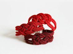 Red Bracelet Knot Bracelet Rope Bracelet Sailor KnotRope Knot BraceletNautical BraceletNautical KnotFriendshipNautical JewelryRed (12.00 EUR) by NaTavelli