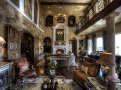 old world gothic style homes | Old World style interior design