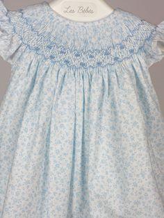 vestido liberty azul bebe belan Más