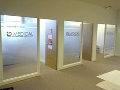 Cut vinyl window graphics for ID Medical