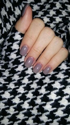 #gray #nails #simple