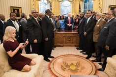 The Conway picture is only a small error in Trump's swing-and-a-miss black college event