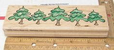 CHRISTMAS SCENERY EVERGREEN TREE'S 1539K BY PENNY BLACK  RUBBER STAMP #PennyBlack #rubberstamp Penny Black, Christmas Scenery, Evergreen Trees, Black Rubber, Bamboo Cutting Board, Stamps, Holiday, Nature, Crafts