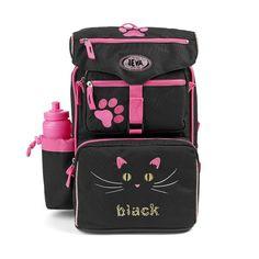 De lækreste Jeva Beginners skoletaske, 0-2 klasse, Black Cat   til Rygsække til børn i dejlige materialer