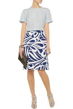 Marni Printed cotton-blend faille skirt $396