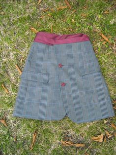 Use men's old blazer/suit coat and make into a skirt.  Perfect for a winter skirt!