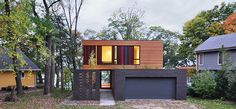 Redaction House Johnsen Schmaling Architects designed a compact home on a suburban infill site in Delafield, Wisconsin.