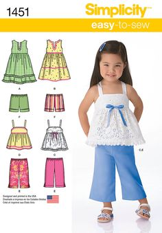 1451 Toddlers' Dresses, Top, Cropped Pants and Shorts Share on facebook Share on myspace Share on twitter Share on stylehive Share on kaboo...