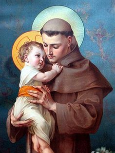 Saint Anthony of Padua, pray for us. Religious Pictures, Jesus Pictures, Religious Icons, Religious Art, Catholic Religion, Catholic Art, Catholic Saints, Saint Antonio, Saint Anthony Of Padua