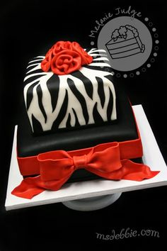 Another cool zebra cake....