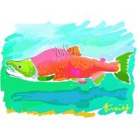 Sockeye Salmon Artwork