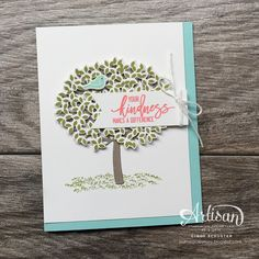 nutmeg creations: Stampin' UP Artisan Blog Hop - Introducing Thoughtful Branches
