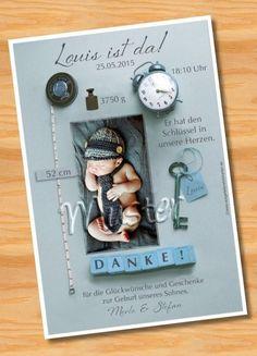 Danksagungskarten ♥ Geburtsanzeigen ♥ ORIGINELL von Ausgefallene Fotokarten auf DaWanda.com
