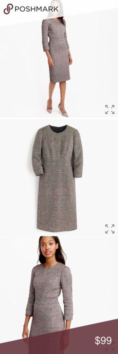 """J. Crew Neon Tweed Dress J. Crew Neon Tweed Dress- preowned, but in great condition! Size tag cut out- please use measurements for sizing. Approximate measurements taken lying flat: bust-18"""", length-37"""", waist- 15.75"""". J. Crew Dresses"""