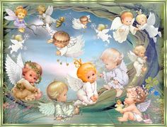 Ruth Morehead - Land of Angels. Angel Images, Angel Pictures, Cute Pictures, Baby Engel, Kobold, I Believe In Angels, Angels Among Us, Angels In Heaven, Guardian Angels