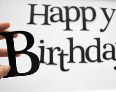 die cut letters happy birthday black die cut letters for banner 35 inches tall a201