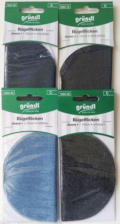 Bügelflicken Jeans 8 Stück 4 Farben Bügelapplikation Bügelbild  Flickstoff