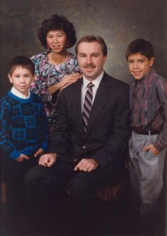 Family Picture of Tim and Tami Lakers and boys at very young ages.