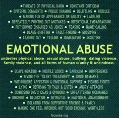 Domestic bullying emotional abuse