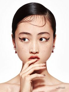 Jing Wen photographed by Yu Cong for Elle China January 2017