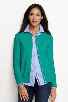 Women's Supima Cardigan Sweater from Lands' End