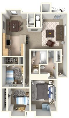 Floor Plans : Northwind Apartments