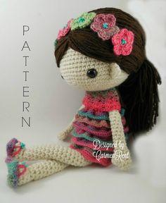 Claudia Amigurumi Doll Crochet Pattern PDF van CarmenRent op Etsy
