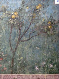 Pintura de la antigua Roma, Casa de Livia, Detalle de especies animales y vegetales