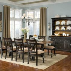 Great Warm Country Dining Room Wall Ideas With Curtains Design Listed In:  Warm Dining Room Ideas, Warm Colors Bathroom And Warm Dining Room Part 78