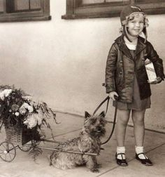 The only thing cuter than child star Shirley Temple was Shirley Temple with a dog!