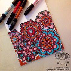 https://flic.kr/p/ppHcn5 | #молескин #Moleskine #мандала #графика #орнамент #узор #graphic #art #акварель #watercolor #mandala #ornament #pattern #drawing #рисунок #geometry #zentangle #зентангл #sketch #paint #instagood #drawing #artwork #tattooart #tattoo  #henna  #fabercastell #