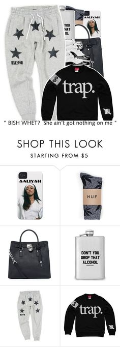 """""""05-28-2016. - Keep joining my group, link in bio."""" by trillestqueen ❤ liked on Polyvore featuring HUF and MICHAEL Michael Kors"""