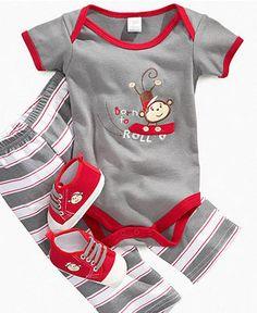 Cutie Pie Baby Set, Baby Boys Born-to-Roll 3-Piece Set - Kids Baby Boy (0-24 months) - Macy's