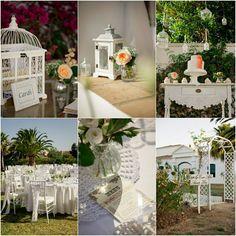 Vintage wedding in Spain with pretty peaches and cream styling - www.weddingvenuesinspain.com