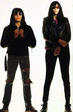 Marky Ramone and Joey Ramone photographed by George Dubose