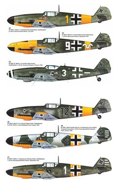 Messerschmitt Bf-109 from JG-52, JG-53 and JG-54.