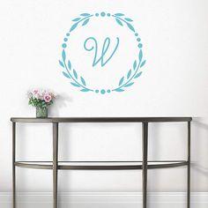 Rome Monogram – Traditional    Martha Stewart Wall Art Decals™   Bedroom Decor by @Martha Stewart Living