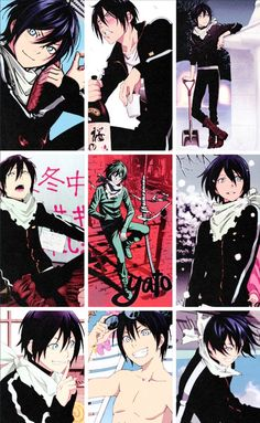 Yato!! He's the only anime guy I fan girl over that doesn't have long hair.