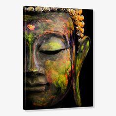 Quadro de Parede - Tela em Canvas 70x100cm Face Escultura de Buda
