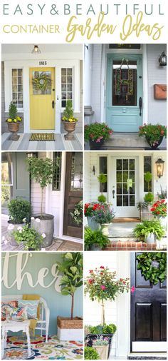 Container Gardening Ideas container garden ideas container planters - Wondering what plants and flowers to choose to style your front porch container planters this year? Here are some easy and beautiful container garden ideas for your porch! Outdoor Spaces, Outdoor Living, Pot Jardin, Vintage Planters, House With Porch, Succulent Pots, Garden Planters, Planters For Front Porch, Porch Plants