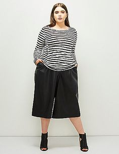 Not feeling the top - but these shoes plus these faux wide leg crops could be amazeballs.