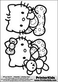 hello kitty baby coloring pages - rainbow in the garden coloring pages rainbow coloring
