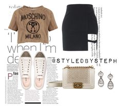 """Untitled #455"" by styledbystephxx on Polyvore featuring Moschino, Miu Miu and Chanel"