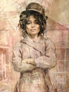 A portrait of Helena Bonham Carter by Jonathan Yeo; saw this at the National Portrait Gallery in London this morning. Very feminine and strong.