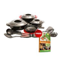 Mercola Healthy Chef Ceramic Cookware (16pc Set)